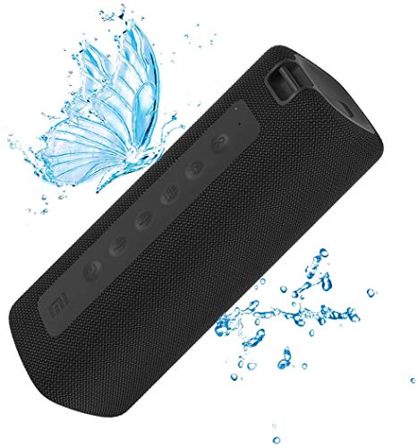 Xiaomi Altavoz portátil Bluetooth 5.0, IPX7 Barra Vertical estéreo inalámbrica a Prueba de Agua 13 Horas Tiempo de reproducción 16W Sonido Micrófono Incorporado, Conexión TWS (Negro)