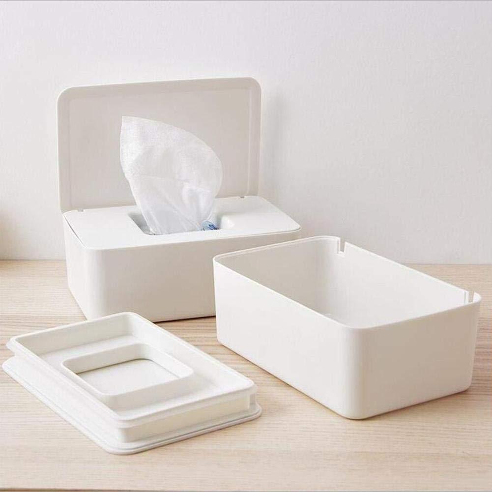 meaningful Knowes - Toallitas húmedas Dispensador Soporte Tejido Estuche de almacenamiento con tapa para oficina en casa. comfy: Amazon.es: Bricolaje y herramientas