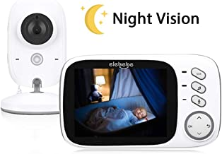 Baby Monitor with Camera and Audio - Infrared Night Vision Baby Moniter, VOX Mode, 2-way Communication + 2-way Installation Auto Connection Without Pairing, Multiple Functions, Idea for New Mom & Babe
