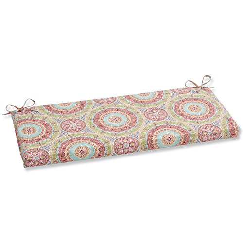 Pillow Perfect Outdoor/Indoor Delancey Jubilee Bench/Swing Cushion, 45' x 18', Multicolored