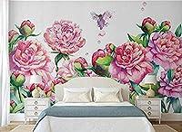 カスタム北欧ファッションパーソナリティ壁紙シンプルな手描きフラワーガーデンスタイルの背景3D壁紙-400x280cm