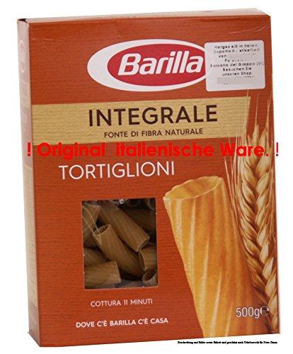 Barilla Tortiglioni Integrale 11x 500g = 5500g Teigwaren aus Vollkornhartweizengrieß,