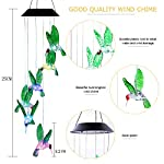 ANZOME Changing Color Solar Power Wind Mobile, Spiral Spinner Windchime Portable Outdoor Decorative Romantic Windbell Light for Patio, Yard, Garden, Home, Pathway 7