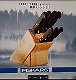 Messerblock Fiskars Brüssel 8tlg. Kochmesser Brotmesser Fleischmesser etc.