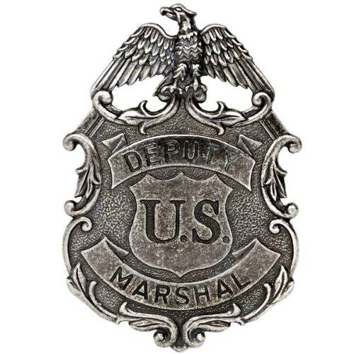 ukgiftstoreonline Colore: Nickel-Aigle US Marshall Vice dei Servizi repressivi Badge in Metallo Solido G112/NQ
