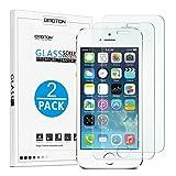 OMOTON [2 Stück] Panzerglasfolie für iPhone se/5s, 9H Festigkeit, Anti-Kratzen, Anti-Öl, Anti-Bläschen
