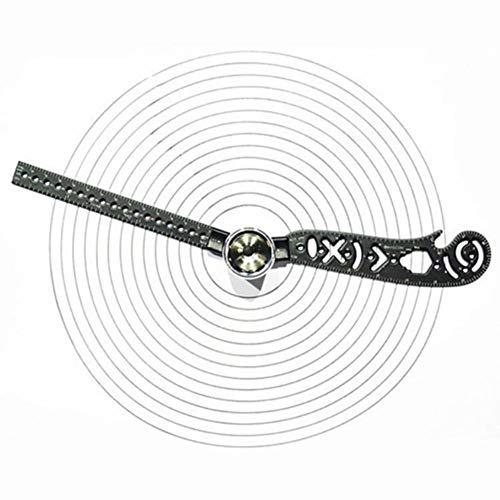 Chutoral Multifunktionale magnetische Waage Zeichnen Lineal Tragbarer Kompass Messung EDC-Werkzeug