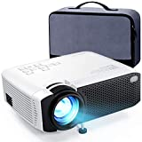 Mini Projector, APEMAN 4500L Brightness 180' Display Projector [Carry Case Included], Support 1080P, 45,000 Hours LED Life, Compatible with TV Stick, TV Box, PS4, HDMI, VGA, TF, AV, USB for Home Movie