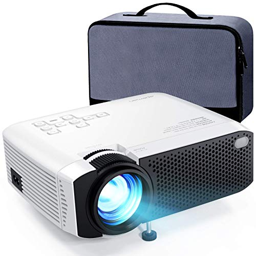 "Mini Projector, APEMAN 5000L Brightness 180"" Display Projector [Carry Case Included], Support 1080P, 55,000 Hours LED Life, Compatible with TV Stick, TV Box, PS4, HDMI, VGA, TF, AV, USB for Home Movie"