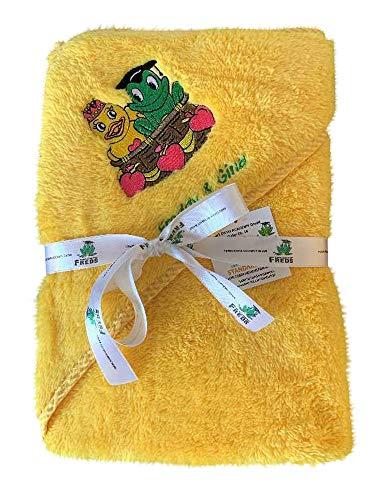 Freds Swim Academy 20522 Serviette à capuche en polyester souple avec motif Fred & Gina Env. 70 x 70 cm, jaune