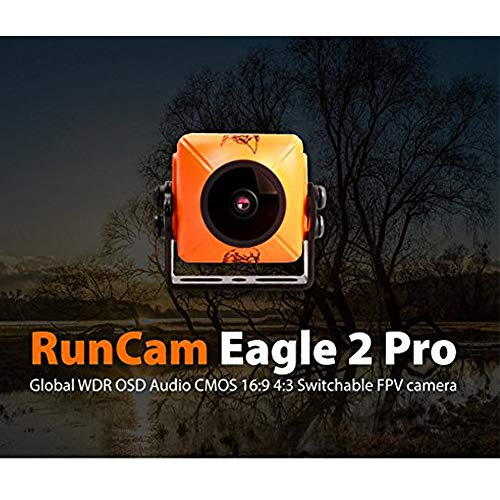 RunCam Eagle 2 Pro 800TVL CMOS 2.1 mm/2.5 mm Lens 16: 9/4: 3NTSC/PAL commutabile super WDR mic OSD FPV camera bassa latenza per Multicopter