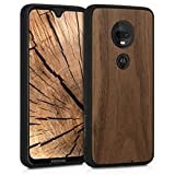 kwmobile Wooden Cover Compatible with Motorola Moto G7 /