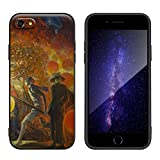 Galileo Chini for iPhone 7&iPhone 8 Case&iPhone SE 2020/Art Silicone Cellphone Case/Giclee UV Reproduction Print on Mobile Phone Cover(Chinese New Year in Bangkok)