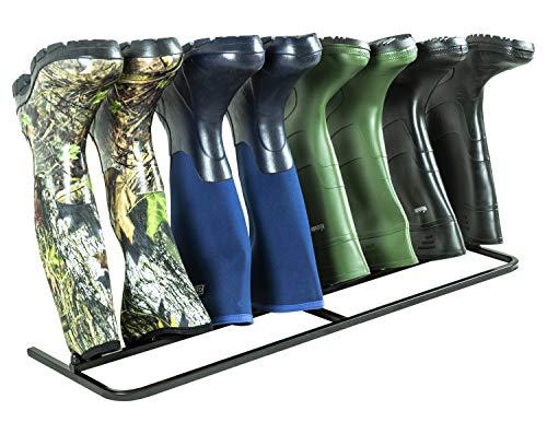 Woodside Steel Wellington Boot Rack 4 Pairs Walking Shoe Storage Stand