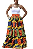 Yacun Femme Jupe Longue Africaine Robe Imprimé Floral Traditionnelle Jupes Pattern1 S