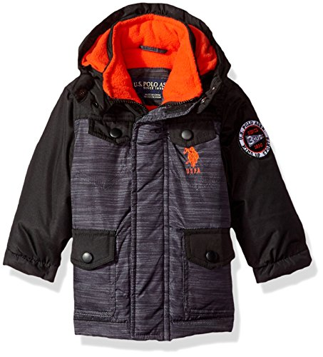 US Polo Association Baby Boys' Outerwear Jacket (More Styles Available), UB49-Heather Grey, 12M