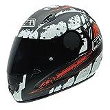 NZI 010264G726 Premium S Graphics SV Blocks Casco de Moto, Blanco, Negro y Rojo, Talla 57 (M)