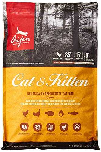 Orijen Cat and Kitten Food, 5.4 kg