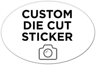 """250 Oval Custom Die Cut Stickers 6"""" x 4"""" for Laptops, Windows, Cell Phones, Cars. Upload Your own Image, Logo, or Design…"""