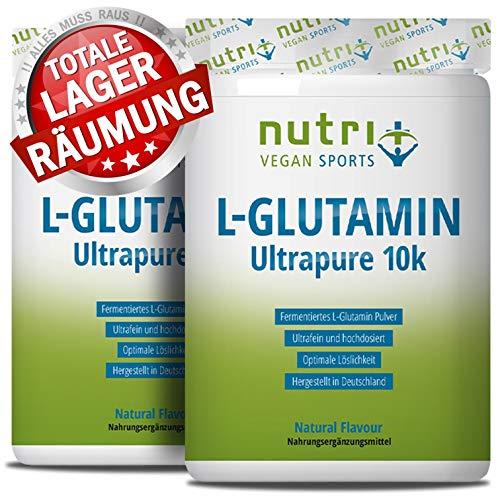 L-GLUTAMIN Pulver 1kg Ultrapure - 99,95% rein - hochdosiert ohne Zusatzstoffe - Vegan - Doppelpack 1000g - Nutri-Plus L-Glutamine Powder - hergestellt in Deutschland