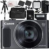 Canon PowerShot SX620 HS Digital Camera (Black) 9PC Accessory Bundle – Includes 2X