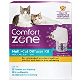 Comfort Zone Calming For Single and Multi-Cat Homes , Cat Pheromone, Single Diffuser Kit, 1 Diffuser, 1 Refill-48ml, New Formula