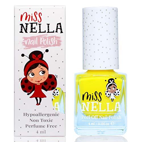 Miss Nella SUN KISSED abziehbarer Nagellack speziell für Kinder, Gelb, Peel-Off-Formel, ungiftig, wasserbasiert und geruchsneutral