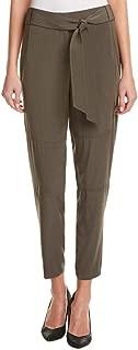 Karen Millen PY042 Women/'s Khaki Fluid Cropped Slim Belt Trousers UK SIZE 6To16