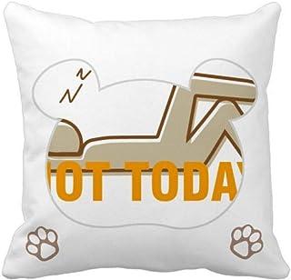 OFFbb-USA Lazy People - Funda cuadrada para almohada