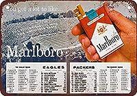 Marlboro cigarette ティンサイン ポスター ン サイン プレート ブリキ看板 ホーム バーために