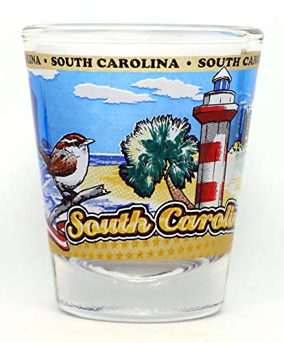 South Carolina State Wraparound Shot Glass
