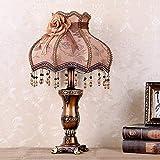 Palm kloset Lámpara de Mesa Lámpara de Mesa Dormitorio lámpara de Noche país Retro Simple Europeo Sala de Estar Creativa Aprendizaje romántico mesita de Noche lámpara 33 * 53 cm
