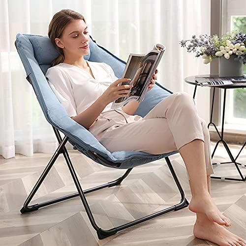 CJHOME Sessel | Klappbarer Klappstuhl | Schwereloser Loungesessel | Liegestühle Baumwollkissen | Liege bis zu 300 kg mit Kopfkissen,C