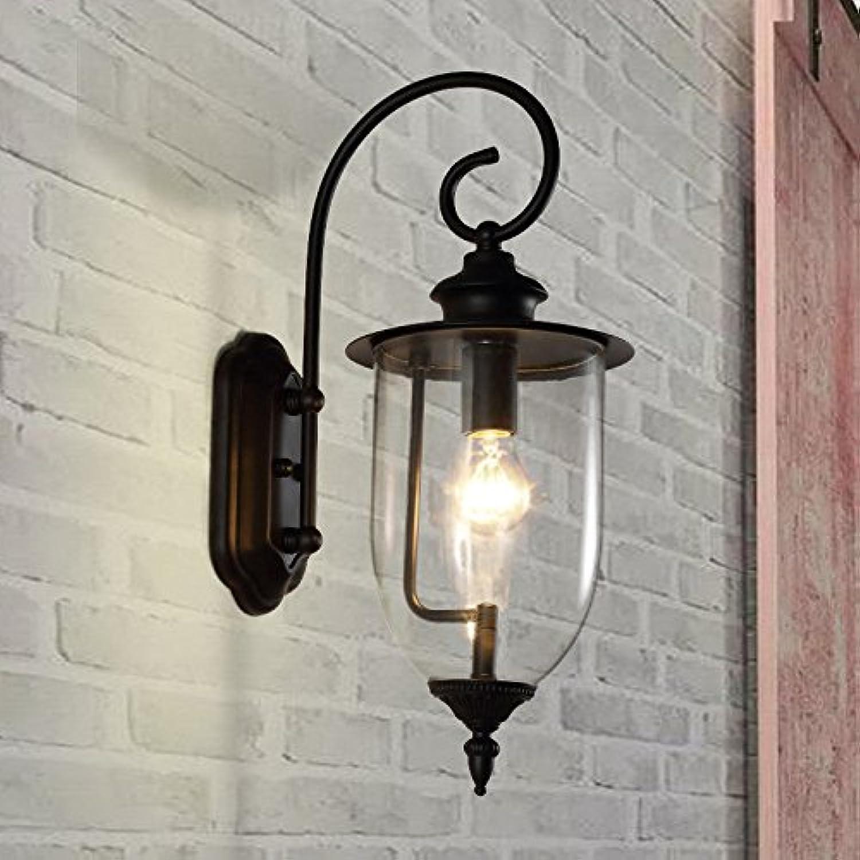 Lucky Fortress 5W Schmiedeeisen LED Wandleuchte im Freien wasserdicht Garten Hof Terrasse Lampe warmweies Licht, 50X20X28CM Wandlampe