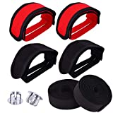 WXJ13 2 Pair Bike Pedal Straps Pedal Bicyle Toe Clips Straps for Fixed Gear Bike, with 1 Pair...