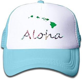 Island Aloha Kids Mesh Hat Baseball Caps Children Grid Hat Trucker Cap for Boys Girls D912
