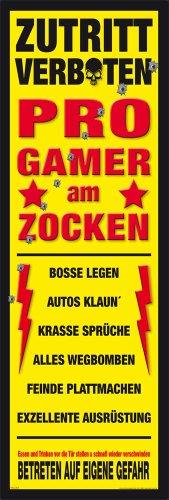 empireposter – gamer bij het gamen – afmetingen (cm), ca. 30,5 x 91,5 - Slim-Poster, NIEUW -