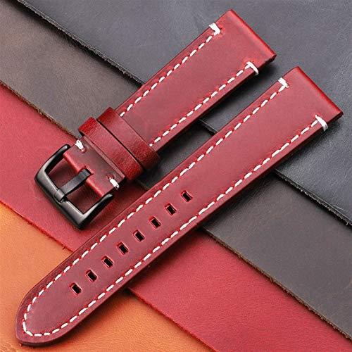 Brting Sorteo Cintas de Cuero Genuino de la Vendimia 7 Colores cinturón 18 mm 20 mm 22 mm 24 mm Mujeres Hombres Hombres de Cuero Reloj de Cuero de la Correa de la Correa Accesorios