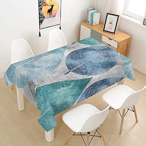 Manteles de Mesa Mantel, Morbuy Rectangular Impresión 3D Hojas Tropicales Impermeable Antimanchas Lavable Manteles para Cocina o Salón Comedor Decoración del Hogar (Hoja,140x260cm)