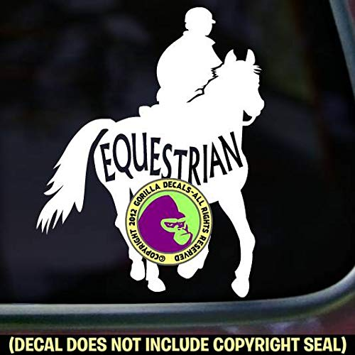 The Gorilla Farm Equestrian Inside Trail Rider Horse 3-Day Eventing Horse Decal Vinyl