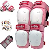 Simply Kids Knee and Elbow Pads with Wrist Guards, HardSoft Pad Tech. I CPSIA Certified Protective Gear Set I Inline Roller Skate Skateboard Bike Knee Pads for Kids Child Girls Boys Toddler Youth