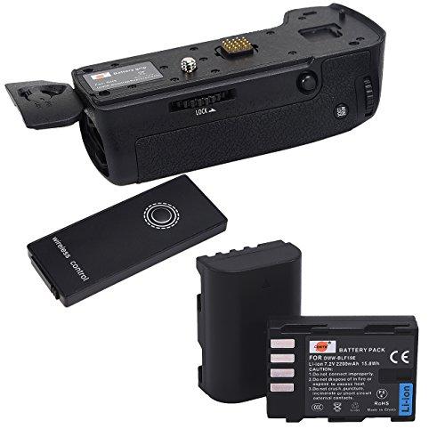 DSTE IR Remote Vertical Battery grip Holder DMW-BGGH5 Compatibile per Panasonic LUMIX GH5 Digital Camera + 2x DMW-BLF19