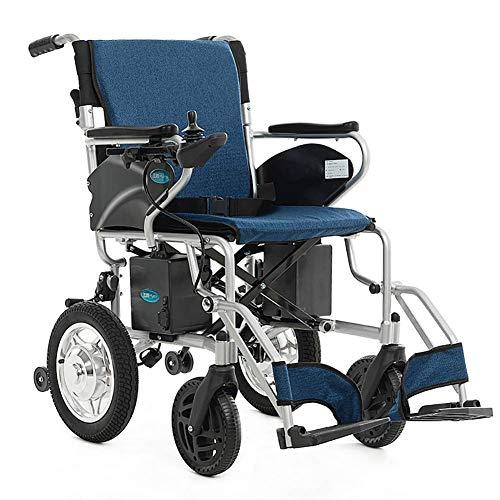 WXDP Autopropulsado Controlador Dual eléctrico, Scooter Plegable Ligero para discapacitados para Personas Mayores, Pesa Solo 28 kg, con alimentación eléctrica o Manual