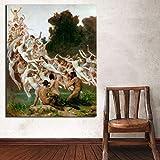 KWzEQ Papel Pintado estético Arte Lienzo Arte de la Pared póster Moderno Imagen de la Pared decoración del hogar,Pintura sin Marco,70x90cm