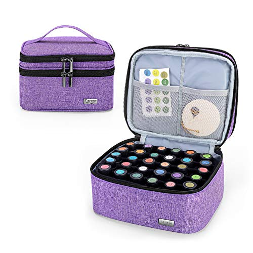 Luxja Essential Oil Carrying Case - Holds 30 Bottles (5ml-30ml, Also...