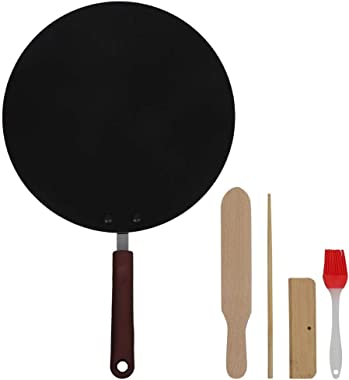 30CM Mini Household Non-Stick Electric Wok Cast Iron Griddle,with Insulated Handle