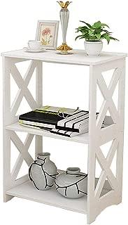 Rerii Display Shelves, Wood & Plastic Composite, 2-Tier Free Standing Shelf, Desktop Storage Organizer Rack, Kids Bookshelf for Home Living Room Bathroom Kitchen Office
