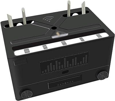 Wifi Router Shelf Caja de almacenamiento multifuncional router for cubrir y ocultar el cable y el cable de alimentación del sistema y del router de almacenamiento de Box-negro y blanco Set-Top Boxes e