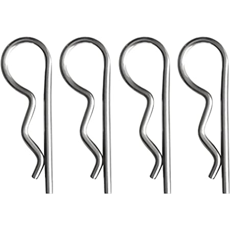 Lot de 10 R Clips Ressort épingle à cheveux 4 mm Hitch Lynch Cotter zinc plaqué acier