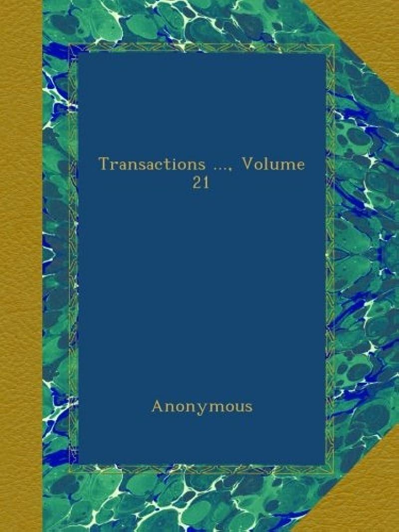 背骨申込み誰のTransactions ..., Volume 21